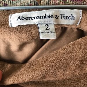 Abercrombie & Fitch Skirts - Abercrombie brown suede a-line skirt